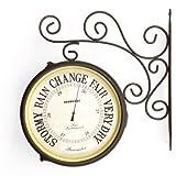 Greenhurst Dual Sided Clock and Barometer