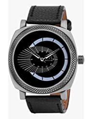 Watch Me Black Genuine Leather Analogue Watch For Men WMAL-080-B