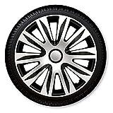 15 Zoll Radzierblenden / Radkappen Nardo Silber schwarz 15