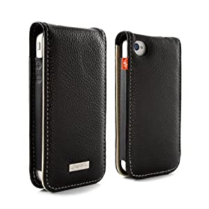 Proporta Aluminium Lined - Funda de cuero para iPhone 4, color negro