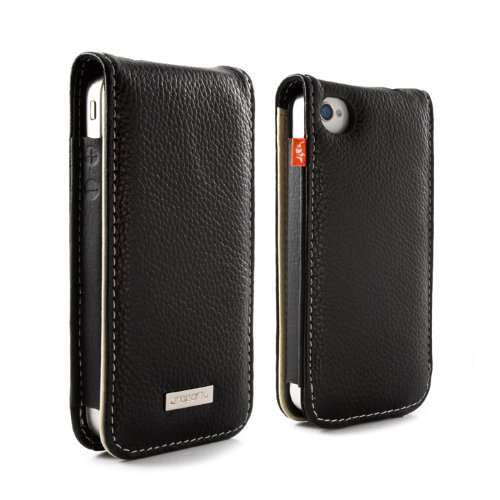Proporta Aluminium Lined Leather Case Cover (Apple iPhone 4 4G Case/Sleeve) - Black