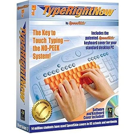 TypeRightNow for Windows Includes Patented, Peek-Proof PC/Desktop* Keyboard Cover