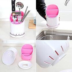 Inovera Kitchen Drainer Strainer Organizer Storage Sink Spork Spoon Cutlery Holder