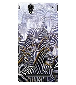 ColourCraft Zebras Design Back Case Cover for SONY XPERIA T2 ULTRA DUAL D5322
