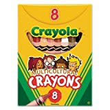 Binney and Smith Crayola(R) Multicultural Crayons, Assorted Specialty Colors, Box Of 8