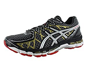 ASICS Men's Gel Kayano 20 Running Shoe,Black/White/Gold,9 M US