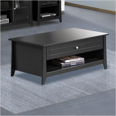 Tuxedo Coffee Table with Black Finish Black Finish