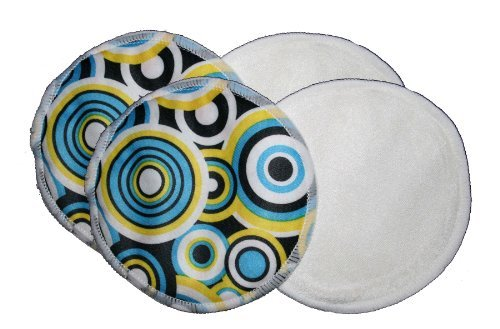 Waterproof Bamboo Nursing Pads - Circles Print