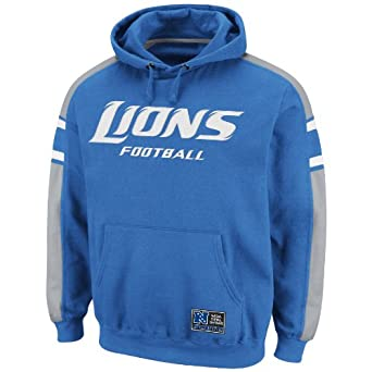 NFL Mens Detroit Lions Passing Game II Sport Blue Stone Gray White Long Sleeve Hooded... by VF LSG