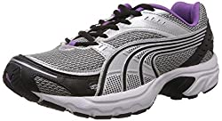 Puma Womens Axis II Wns Ind. Black, Puma Silver and Dewberry Mesh Running Shoes - 4 UK/India (37 EU)
