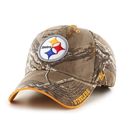 NFL Pittsburgh Steelers '47 Frost MVP Camo Adjustable Hat, O