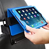 Snugg iPad Mini 1 / 2 / 3 Car Headrest Mount - Leather Car Headrest Mount With Lifetime Guarantee (Black) For Use With Snugg iPad Mini 1 / 2 / 3 Leather Case