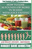 img - for How to Lose 30 Pounds (Or More) In 30 Days With Juice Fasting: How To Lose Weight Fast, Keep it Off & Renew The Mind, Body & Spirit Through Fasting, Smart Eating & Practical Spirituality book / textbook / text book