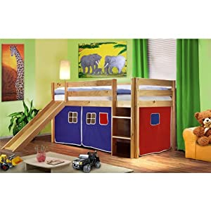 preis check hochbett kinderbett spielbett rutsche massiv. Black Bedroom Furniture Sets. Home Design Ideas