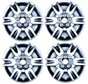 Set Of Four 16 Inch 2009 Nissan Altima Coupe Hubcaps Wheel Covers With A Silver Finish