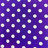 """ArtOFabric Decorative Cotton Polka Dots Tablecloth in 59""""x126"""" Inch - Purple"""