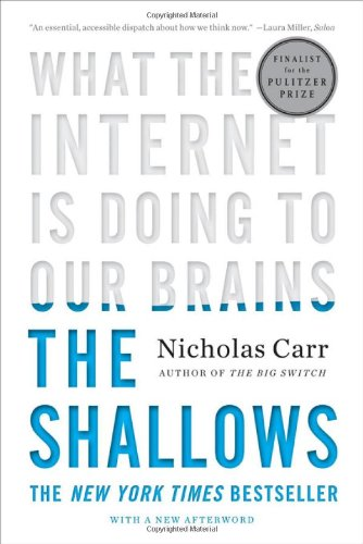 The Shallows by Nicholas Carr book cover