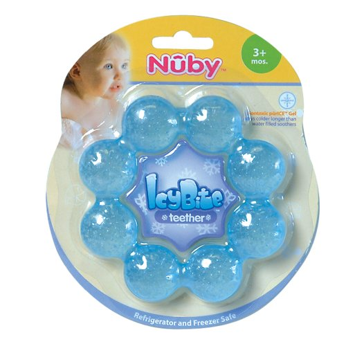 Nuby Pur Ice Bite Soother Ring Teether Colors May Vary