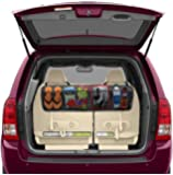 BackSeat/Trunk Organizer By Lebogner - 5 Pocket Auto Interior, Perfect Car Organizer, Trunk Organizer, Backseat Organizer, Multipurpose Cargo Accessories Organizer, Back Seat Storage Organizer