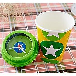 mug clock green