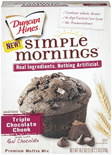 Duncan Hines Simple Mornings Muffin Mix, Triple Chocolate Chunk, 18.2 Ounce (Pack of 12) (Simple Mornings Muffin Mix compare prices)