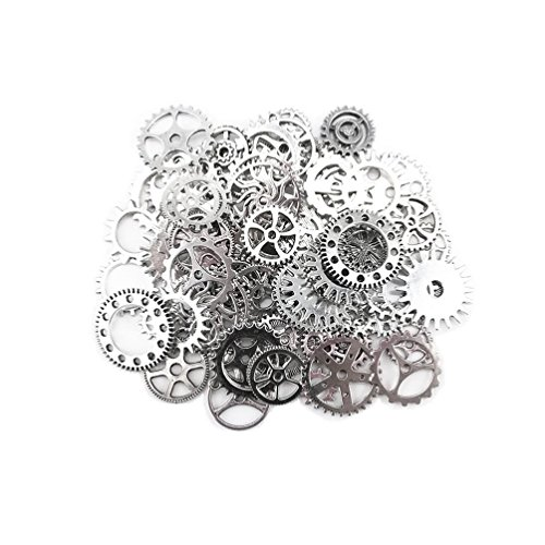SSEELL 20 Piece Vintage Silver Watch Parts Steampunk Cyberpunk Punk Cogs Gears DIY Jewelry Craft (Vintage Pieces compare prices)