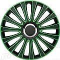 Autostyle PP 5137G Satz Radzierblenden LeMans 17-Zoll, Schwarz/Grün von AutoStyle auf Reifen Onlineshop
