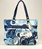 Coach Poppy Pop C Denim Glam Tote 15375