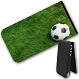 Football in the Park Grass Waiting to Play Leather Flip Case Cover for Apple iPhone 4 / iPhone 4S
