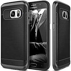 Galaxy S7 Case, Caseology® [Wavelength Series] Textured Pattern Grip Cover [Black] [Shock Proof] for Samsung Galaxy S7 (2016) - Black