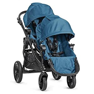 Baby Jogger City Select Black Frame Stroller w/ 2nd Seat Teal