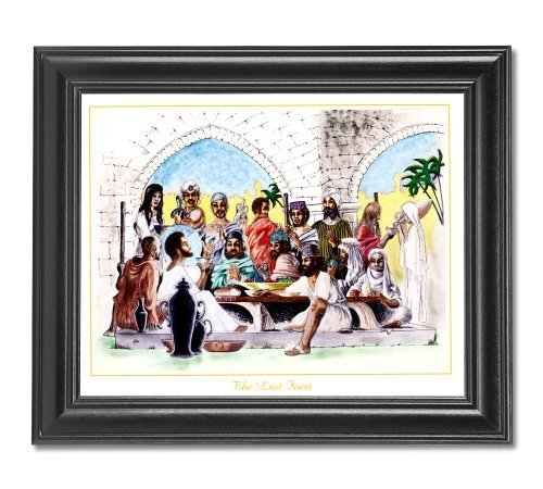 African American Church Last Feast Religious Jesus Wall Picture Framed Art Print by Art Prints Incorporated