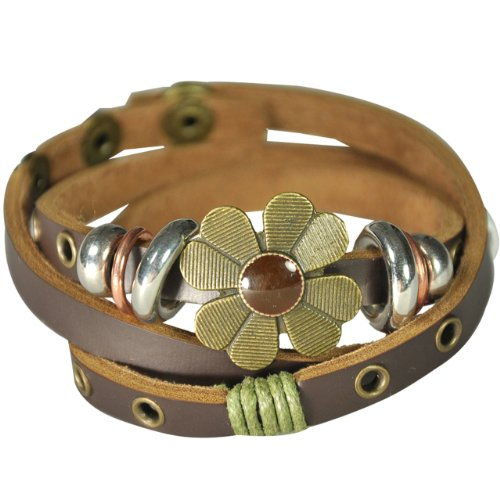 Sunflower Brown PU Leather Vintage Style Exotic