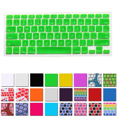 Hde Silicone Rubber Keyboard Skin For Macbook Pro (Non-Retina) (Lime Green)