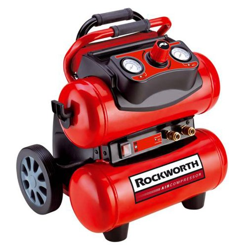 Rockworth RW1504ST 4-Gallon Factory Reconditioned Portable Electric Air Compressor
