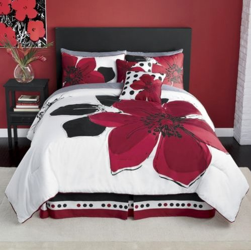 Black Queen Bed Set 5279 front