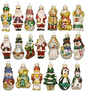 Amazon.com: Miniature Christmas Tree Glass Ornaments [C1598]: Home