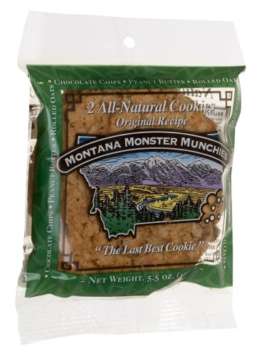 Montana Monster Munchies, All Natural Cookies Original, 5.5-Ounce Packages (Pack of 12)