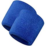 Verceys Unisex Sports Wrist Sweatbands Hand Wrap Tennis Badminton Band Blue