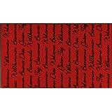 """Fu�matte International red 75x120 cmvon """"Wash&Dry"""""""