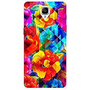 Multi Flower - Mobile Back Case Cover For One Plus 3
