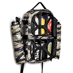 Tiger Camo Utility Graffiti Spray Paint Backpack: Sports & Outdoors