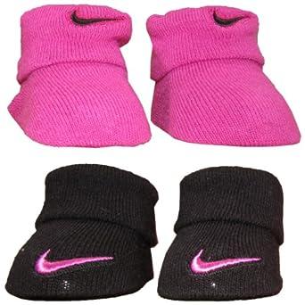 Amazon Nike Baby 2 Pack Newborn Baby Booties Pink 0