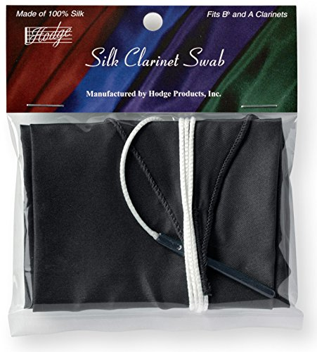 Hodge Silk Clarinet Swab - Black