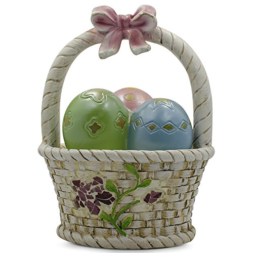 LED Easter Egg Basket Decorative Figurine