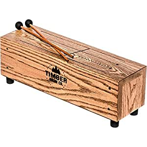 timber drum company slit tongue log drum with mallets musical instruments. Black Bedroom Furniture Sets. Home Design Ideas
