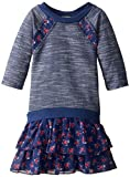 Speechless Little Girls' Tiered Print Sweatshirt Dress