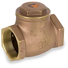 Smith-Cooper International 9191L Series Brass Swing Check Valve, Potable Water Service, NPT Female