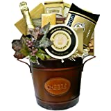 Art of Appreciation Gift Baskets   Cheers to You!  Gourmet Food Basket with Smoked Salmon