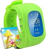 TURNMEON GPS Smart Watch Kid Safe pour smart Montre bracelet SOS Appel Location Finder Locator Tracker for Child Anti Perdu Moniteur pour enfant (vert)...